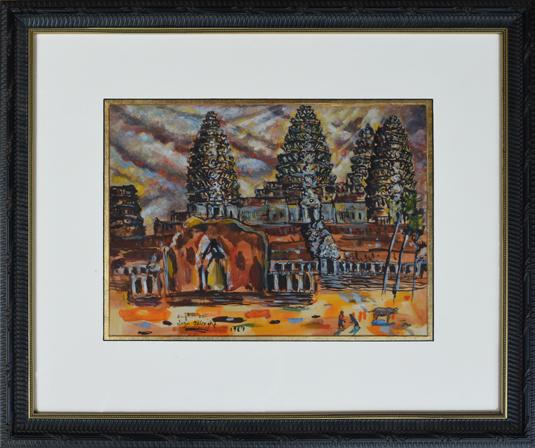 "Albright, Ivan (1897-1983) ""Angkor Wat, 1969"""