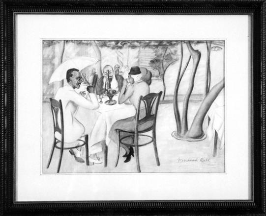 """Richmond, Agnes (1870-1964) """"Sidewalk Café"""""""