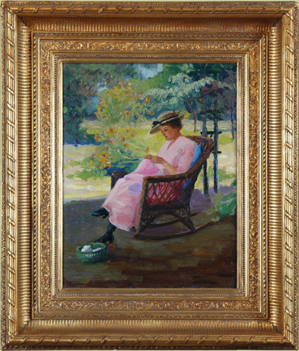 "Chadwick, William <br>(1879-1962) <br>""Lady Knitting"""