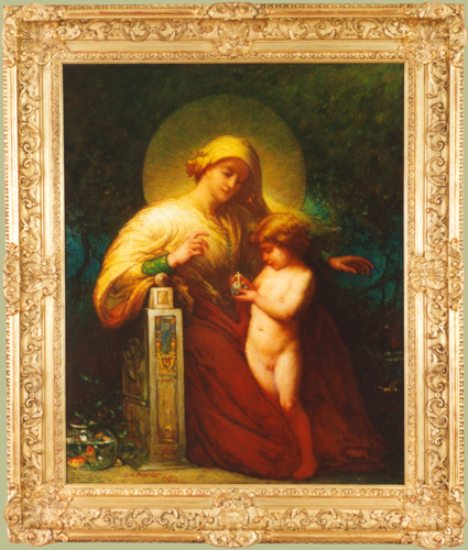 "Daingerfield, N.A., Elliott (1859-1932) <br>""Madonna and Child"""