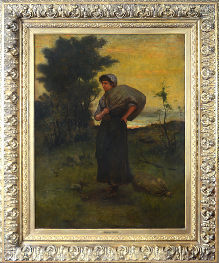 "Daingerfield, N.A., Elliott (1859-1932)<br> ""Peasant Woman, Blowing Rock"""