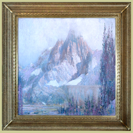 "Edwards, N.A, George Wharton <br> (1869-1950)<br> ""Morning Mists Chamonix"""