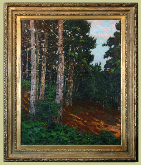"Foster, N.A., Ben <br>(1852-1926)<br> ""Afternoon Maine Woods"""