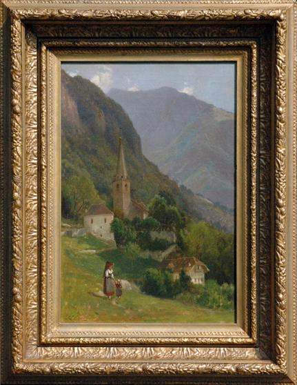 "Gerry, Samuel Lancaster (1813-1891) ""Village in the Swiss Alps"""
