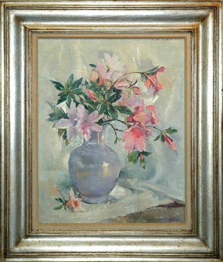 "Greacen, N.A., Nan <br>(1909-1999)<br> ""Pink Azaleas"""