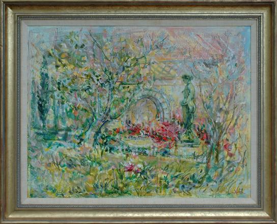 "Hibel, Edna<br> (1917-2014)<br> ""Monet's Garden"""
