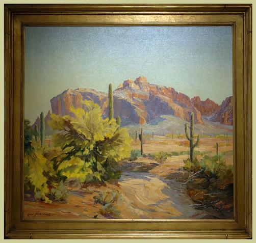 """Hoerman, Carl <br>(1885-1955)<br> """"Desert Scene"""""""