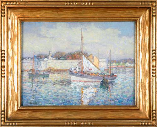 "Irvine, A.N.A., Wilson<br> (1869-1936)<br> ""Harbor Scene"""