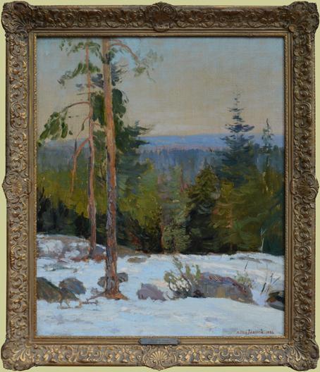 """Jansson, Alfred <br>(1863-1931)<br> """"Winter Scene"""""""