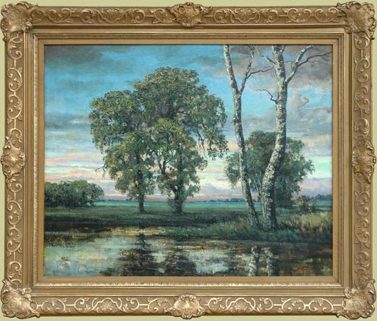 """Koeniger, Walter<br> (1881-1943) <br>""""Summer Sunset Landscape"""""""