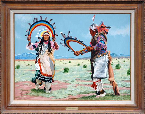 "Mails, Thomas <br>(1922-2001)<br> ""Santa Clara Rainbow Dancers"""