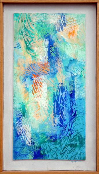 "McCallum, Corrie Parker <br>(1914-2009)<br> ""Blue Abstract"""