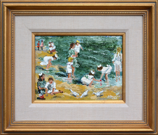 "Mercier, Dennis <br> (born 1939)<br> ""Beach Play"""