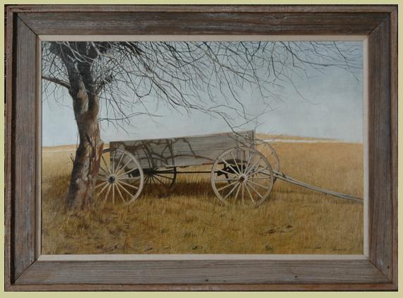 "Meredith, Robert (born 1940) ""Farm Wagon in a Field"""