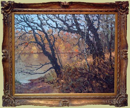 """Miller, Vance <br> (1912-2002)<br> """"Fall River Landscape"""""""