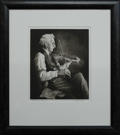 "Nesbitt, Jackson Lee <br> (1913-2008)<br> ""Old Man with Violin"""