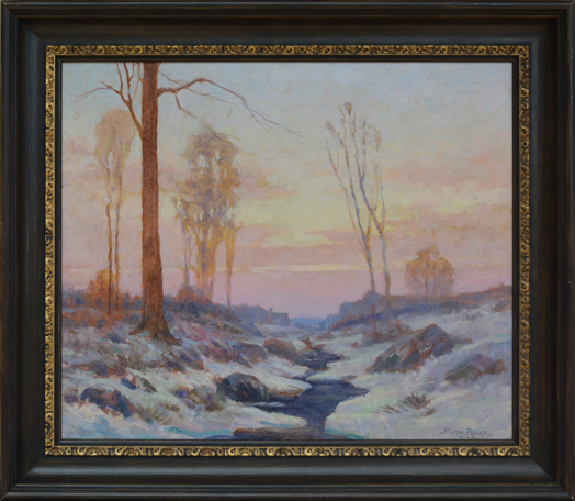 "Rider, Henry Orne <br> (1860-1943)<br> ""A Winter Sunrise, Weston, MA"""