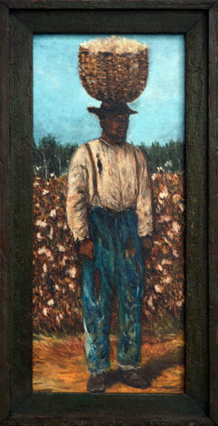 "Walker, William Aiken (Manner of) <br> late 19th century <br>""Male Cotton Picker with Basket"""