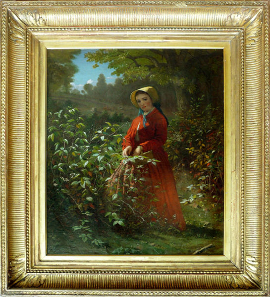 "Smith, T. Henry <br> (mid 19th century)<br>""Blackberry Girl"""