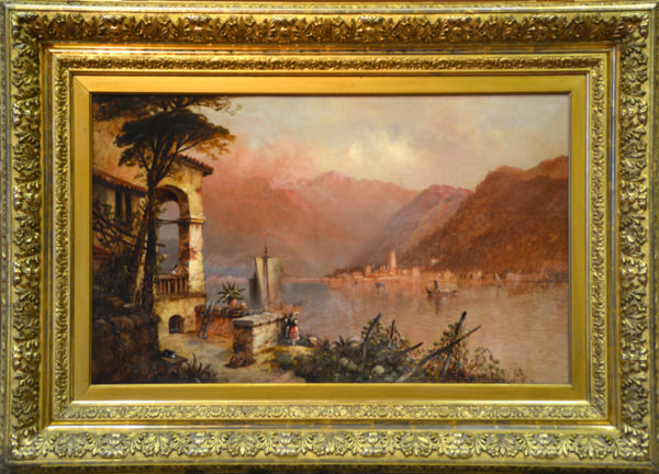 "Perkins, Granville <br> (1830-1895) <br>  ""Lake Como"""
