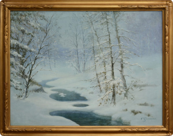 "Bretsnyder, Arno <br> (1885-1969) <br> ""Winter Snow Scene"""