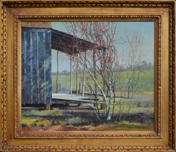 "Rucker, Robert <br> (1932-1972) <br> ""Springtime, Louisiana Cabin"""