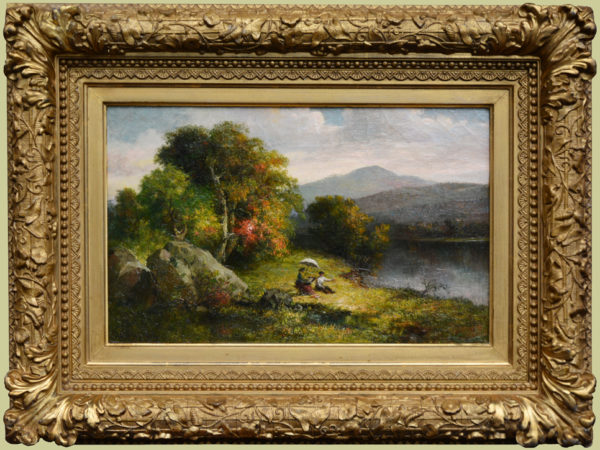 "Dunning, Robert Spear<br>(1829-1905)<br>""White Mountains Landscape with Sketching Artist"""
