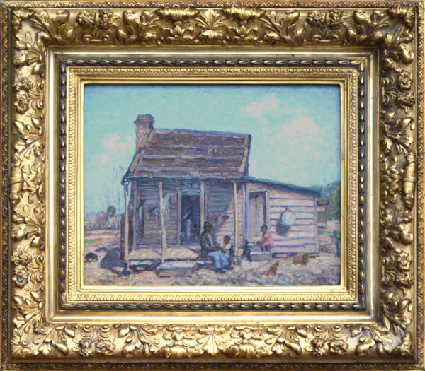 "Irvine, ANA, Wilson<br>(1869-1936)<br>""Far South-Cheraw Combahee Plantation Cabin"""