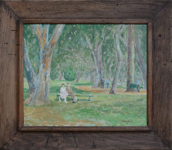 "Jones, Myrtle<br>(1913-2007)<br>""Park in Savannah"""