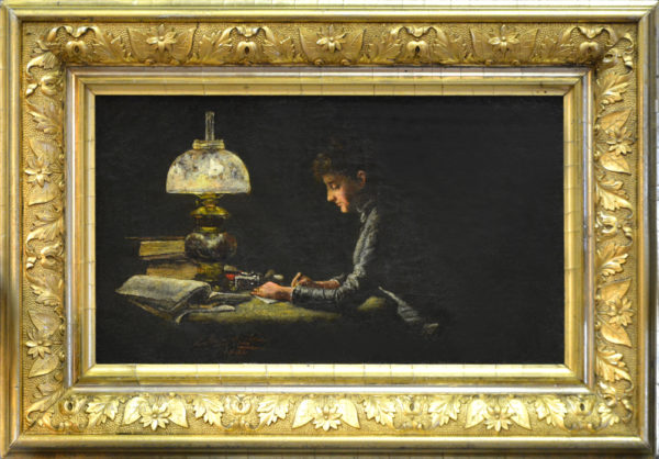 "Daingerfield, NA, Elliott<br>(1859-1932)<br>""Studying"""