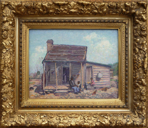 "Irvine, A.N.A., Wilson<br>(1869-1936)<br>""Far South-Cheraw Combahee Plantation Cabin"""