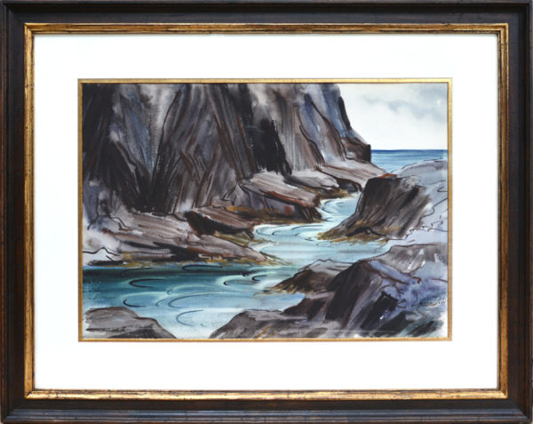 "Dodd, NA, Lamar<br>(1909-1996)<br>""Monhegan Rocks"""