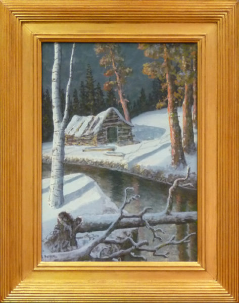 "Sether, Gulbrand<br>(1869-1941)<br>""Winter Scene with Cabin"""