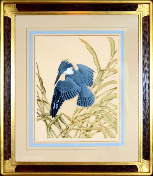 "Menaboni, Athos<br>(1895-1990)  <br> ""Eastern Belted Kingfisher"""