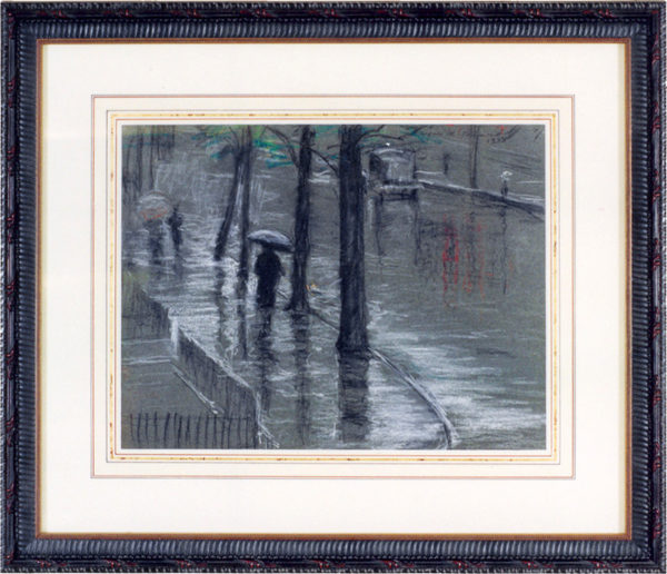 "Richmond, Agnes<br> (1870-1964)<br> ""Rainy Street, New York"""