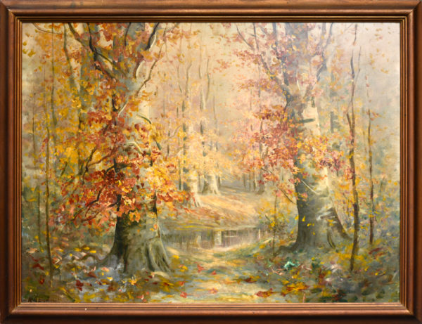 "Eyden, Jr, William Arnold<br>(1893-1982)<br>""Indiana Wooded Landscape"""