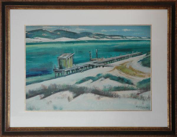 "Holzhauer, Emil <br> (1887-1986)<br> ""Pier, Florida Coast"""