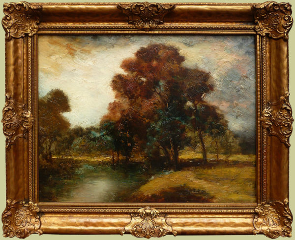 "Kitchell, H.M.<br>(1862-1944)<br>""Autumn Landscape"""