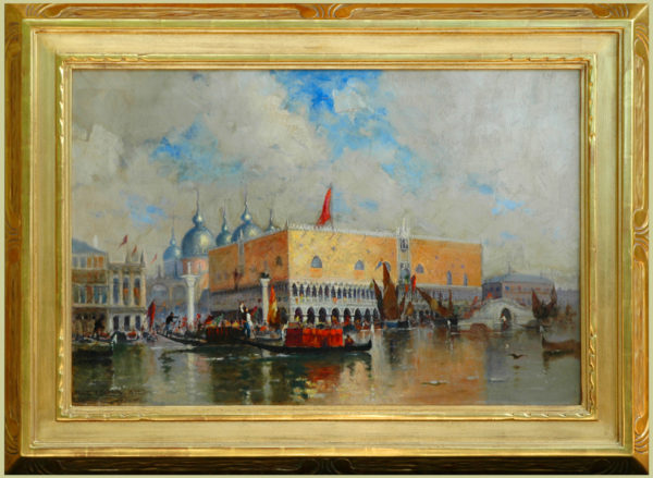 "Lansil, Walter<br>(1846-1925)<br>""A Fete Day, Venice"""
