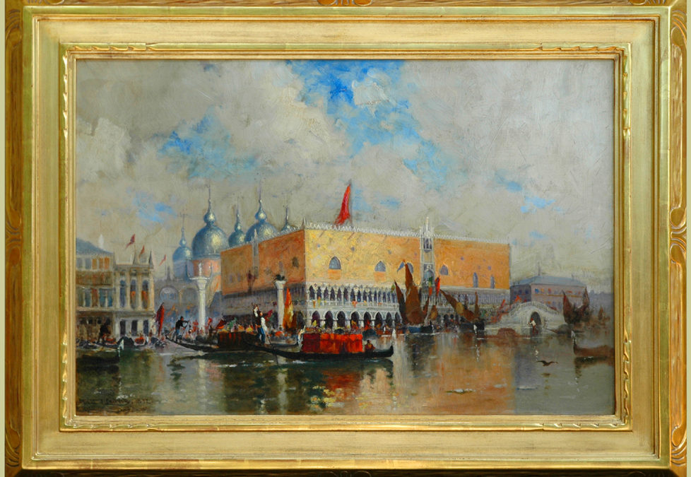 """A Fete Day, Venice"""", 1892 by Walter Lansil (1846-1925)    Exhibited: The National Academy of Design 1861-1900"""
