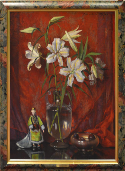 "Major, Ernest Lee<br>(1864-1950)<br>""Still Life with Lilies"""