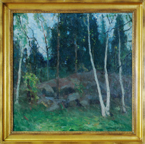 "Sawyer, NA, Helen<br>(1898-1978)<br>""Wooded Landscape"""