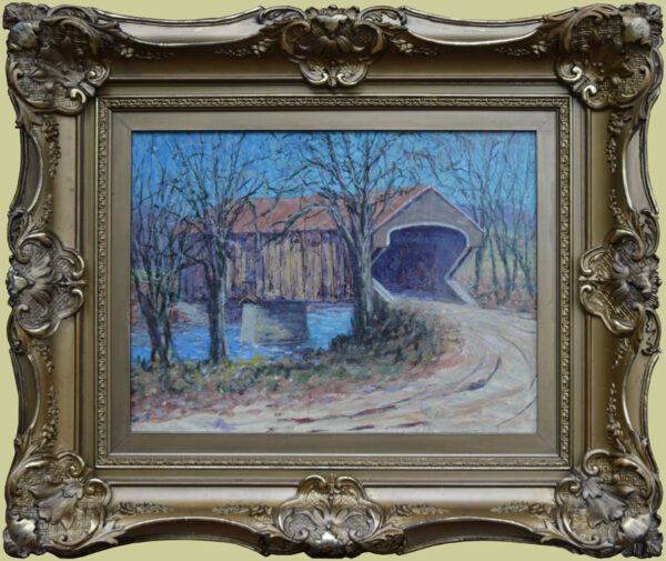 "Hoffman, ANA, Harry L. <br>(1871-1964)<br>""New England Covered Bridge"""