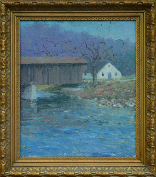 "Hoffman, ANA, Harry L.<br>(1871-1964)<br>""Covered Bridge, New England"""