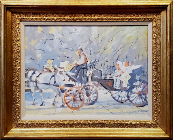 "Jones, Myrtle<br>( 1913-2007)<br>""Carriage Ride in Forsyth Park, Savannah, Georgia"""
