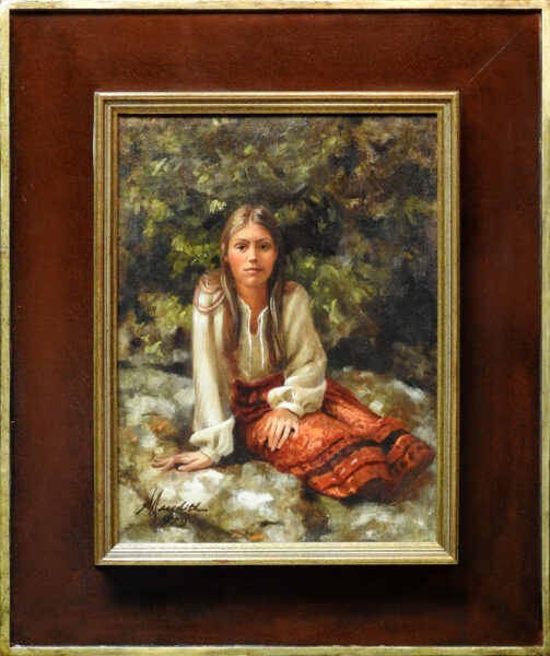 """Meredith, Robert<br>(born 1940)<br>""""Almost Spring""""(Portrait of Camille Green)"""
